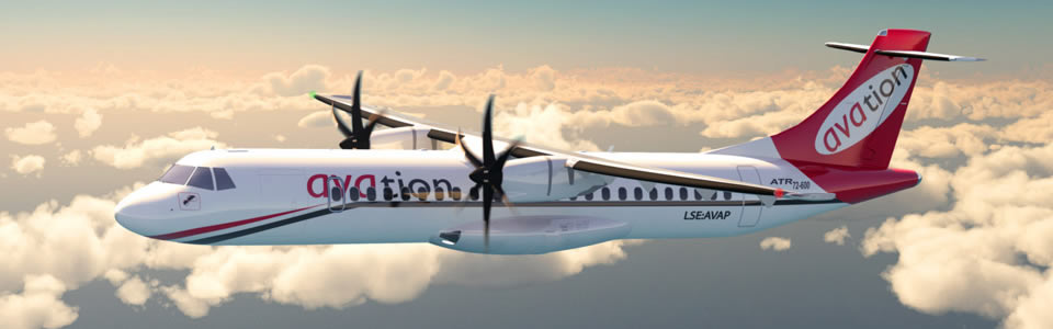 ATR 72-600 Avation livery (rendering)
